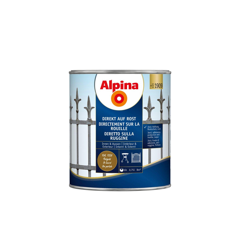 alpina direkt auf rost ral1036 perlgold 750 ml kaufen bei obi. Black Bedroom Furniture Sets. Home Design Ideas
