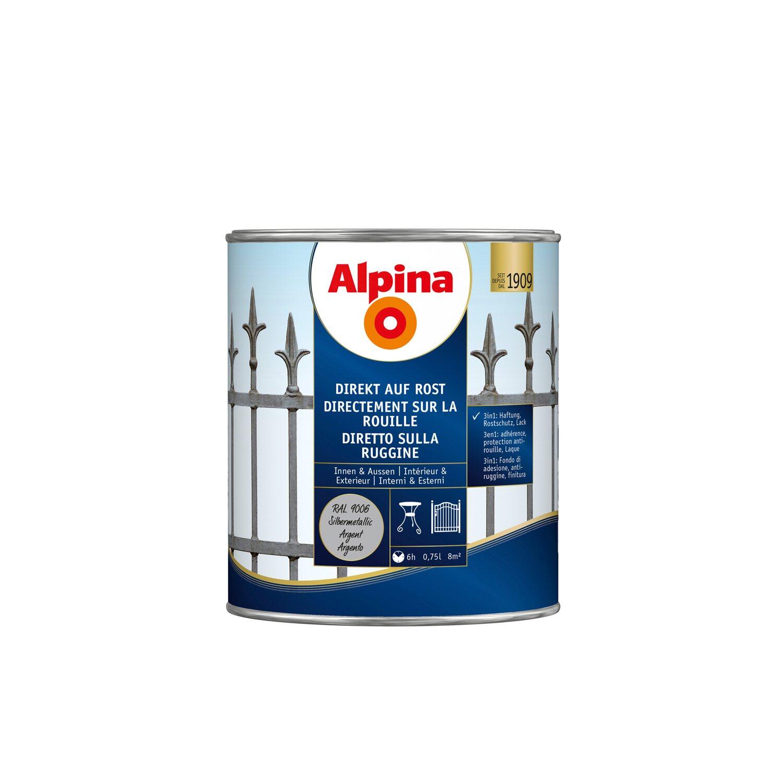 Alpina Direkt Auf Rost RAL 9006 Silbergrau 750 Ml Kaufen