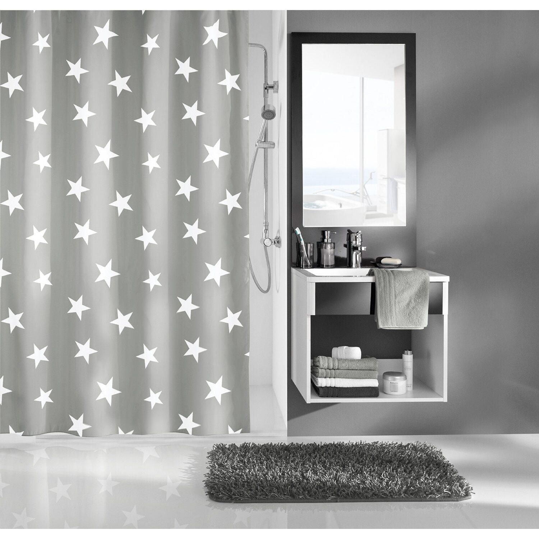 kleine wolke duschvorhang nova 200 cm x 180 cm platin. Black Bedroom Furniture Sets. Home Design Ideas