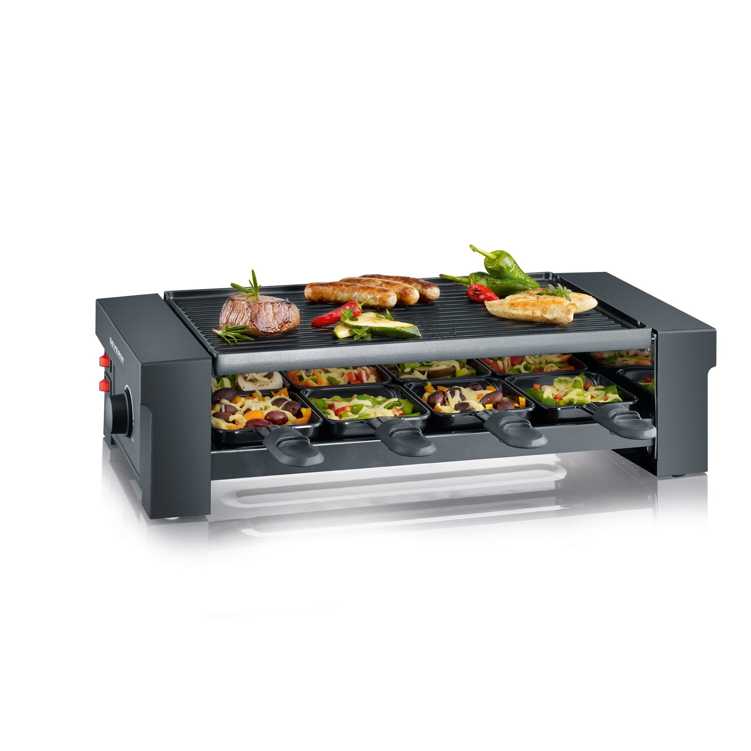 severin pizza raclette grill rg2687 schwarz kaufen bei obi. Black Bedroom Furniture Sets. Home Design Ideas