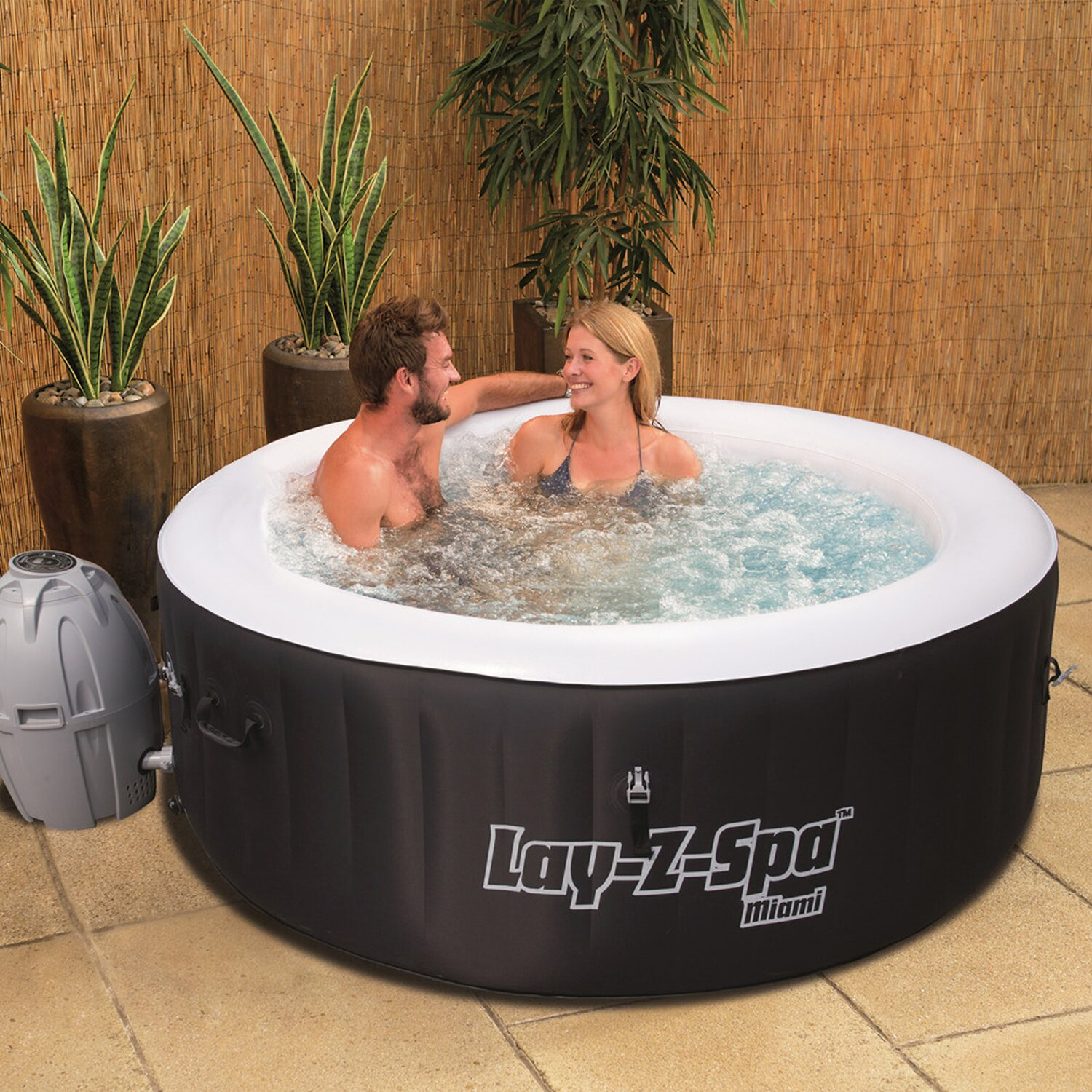 Bestway whirl pool lay z spa whirlpool miami kaufen bei obi for Bestway pool bei obi