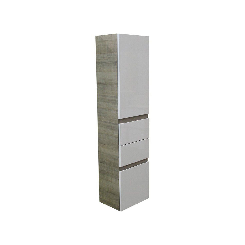 fackelmann hochschrank 40 cm piuro graueiche weiss kaufen bei obi. Black Bedroom Furniture Sets. Home Design Ideas