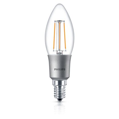 Philips LED-Leuchtmittel EEK: A+ Classic 40 W / B35 / E14 Warmweiss CL D / 4