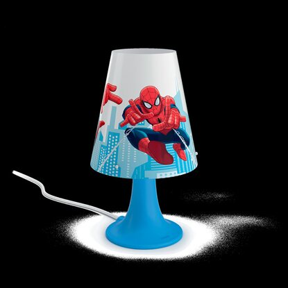 Philips Marvel LED-Tischleuchte Spider Man Blau 2,3 W