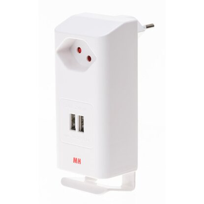 Twin-USB Charger Weiss