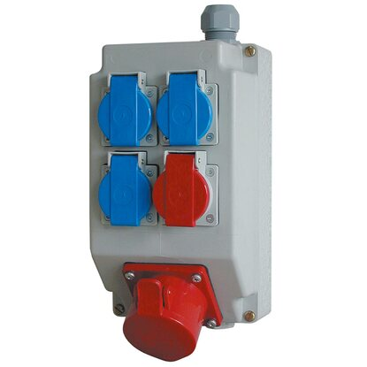 Power Safety Box Steckdosenverteiler 245 mm x 138 mm x 109 mm bestückt