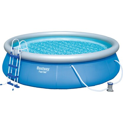 Bestway fast set pool kaufen bei obi for Obi filterpumpe