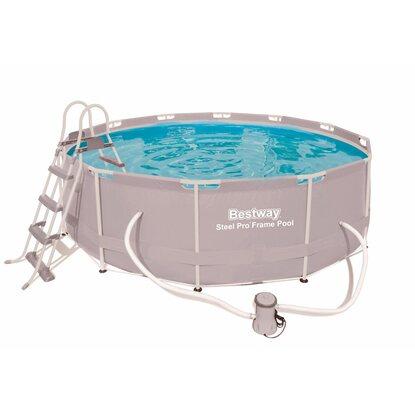Bestway steel pro frame pool set 366 cm x 100 cm for Obi frame pool