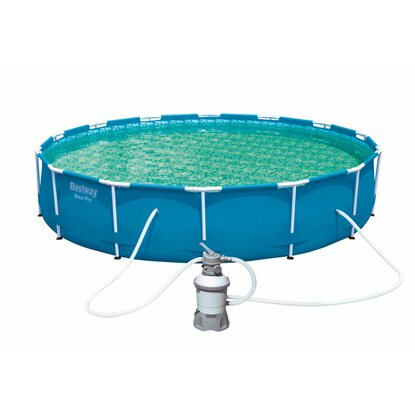 Bestway steel pro frame pool set 457 cm x 107 cm for Abdeckplane pool obi