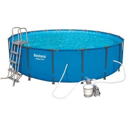 Bestway steel pro frame pool set 457 cm x 107 cm for Obi frame pool