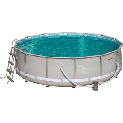 Bestway steel pro frame pool set 427 cm x 107 cm for Obi frame pool