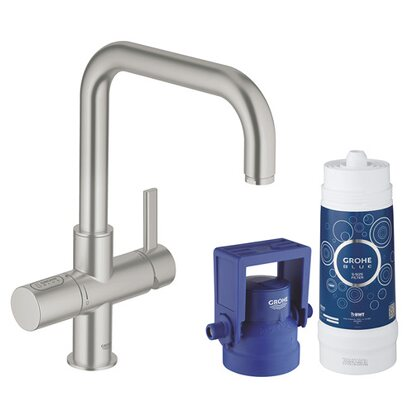 Grohe Blue Pure Starter Kit U-Auslauf Supersteel