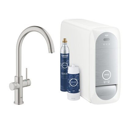 Grohe Blue Home C-Auslauf Starter Kit Supersteel