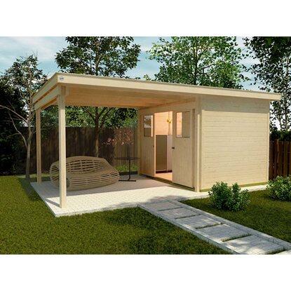 weka schiebet rhaus 225 mit anbau 295 cm gr 1 natur kaufen bei obi. Black Bedroom Furniture Sets. Home Design Ideas