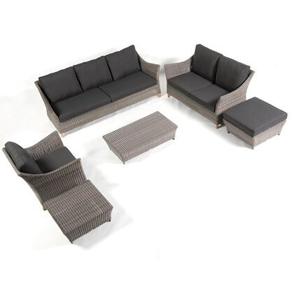 Applebee 2er-Sofa Green Bay Mexican Sand inkl. Kissen New Charcoal