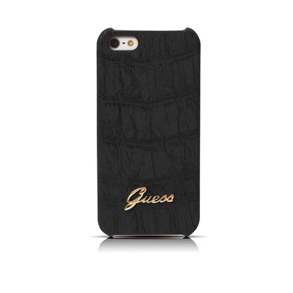 Guess iPhone 5/5s/SE Book-Case Croco Black