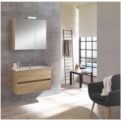 Badm bel set kora nabucco eiche mit spiegelschrank kaufen for Badmobel set mit spiegelschrank