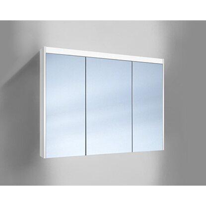 Badezimmer Spiegelschrank Led | Schneider Badezimmer Spiegelschrank O Line Led 100 Cm Weiss 3 Turig