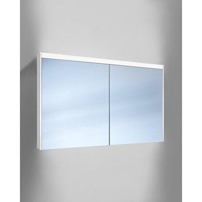 Schneider Badezimmer Spiegelschrank O Line Led 120 Cm Weiss 2 Turig