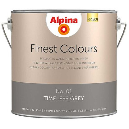 Alpina Finest Colours Timeless Grey 2,5 l
