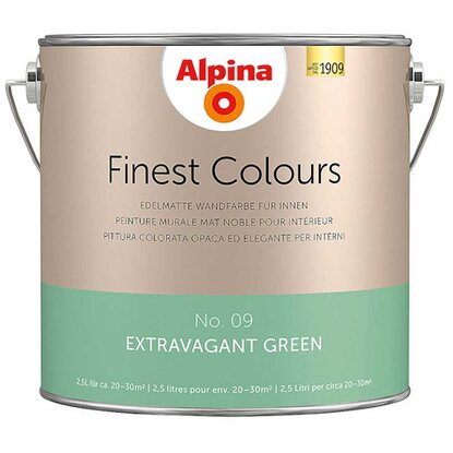 Alpina Finest Colours Extravagant Green 2,5 l