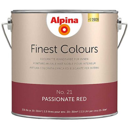 Alpina Finest Colours Passonate Red 2,5 l