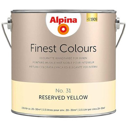 Alpina Finest Colours Reserved Yellow 2,5 l