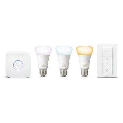 Philips HUE LED-Leuchtmittel EEK: A+ E27 9,5 W (806 lm) 3er-Starter-Set White Am