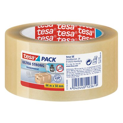 tesa Verpackungsband Ultra Strong 66 m x 50 mm Transparent