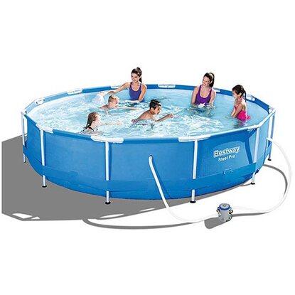 Bestway pool set steel pro frame 366 cm x 76 cm kaufen bei obi for Obi frame pool