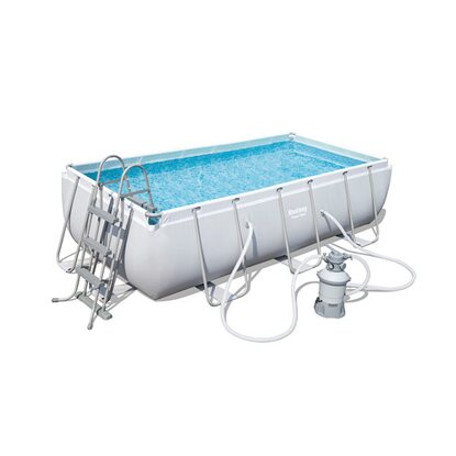 Bestway Power Stahl Rectangular Pool 404 cm x 201 cm x 100 cm
