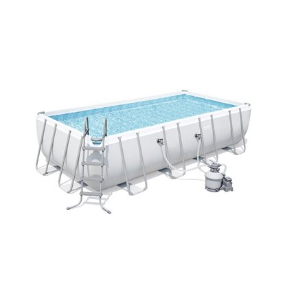 Bestway Rectangle Power Steel Frame Pool 549 x 274 x 122 cm