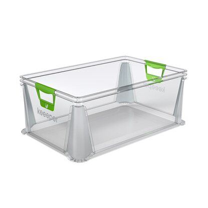 keeeper Eurobox mit Softgriffen 45 l Transparent