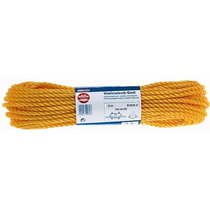 PP-Seil Orange Ø 8 mm x 20 m