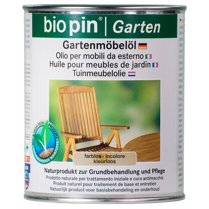 Biopin Gartenmöbelöl Transparent 750 ml