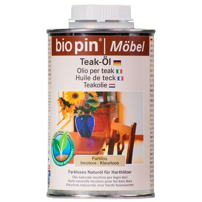 Biopin Teak-Öl Transparent 500 ml