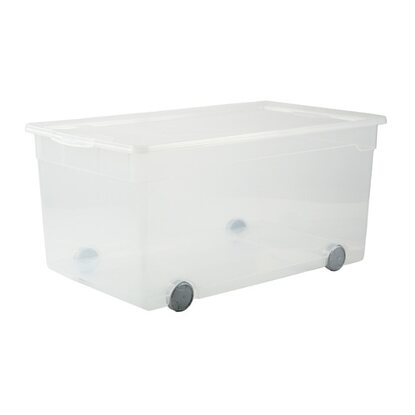Rotho Clear Box Roller 4 Transparent 63 l