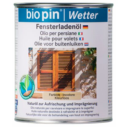 Biopin Fensterladenöl Transparent 750 ml