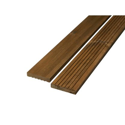 Bodendiele Kiefer Teak  28 mm x 145 mm x 3'000 mm