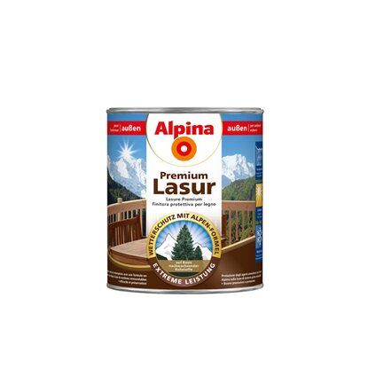 Alpina Premium Lasur Walnuss 750 ml