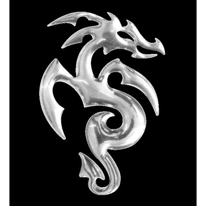 3-D Sticker Mini Drache 2,5 cm x 5 cm