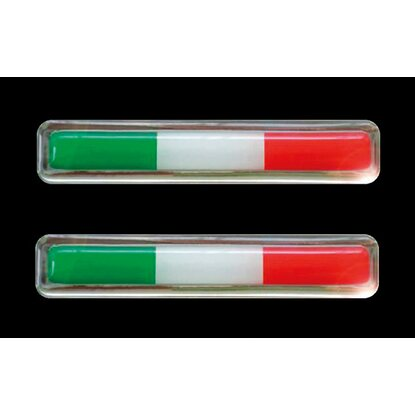 3-D Sticker Flag Italien 1,5 cm x 7,5 cm