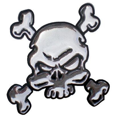 3-D Sticker Mini Bicolor Totenkopf 5 cm x 5 cm