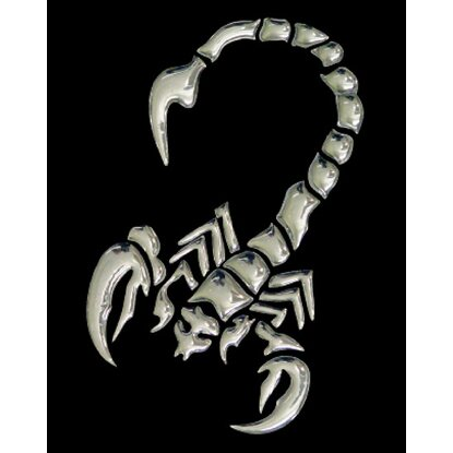3-D Sticker Scorpion 9 cm x 9 cm