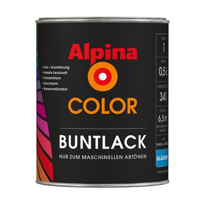 Alpina Color Buntlack glänzend 0,460 l Basis 3