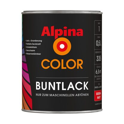 Alpina Color Buntlack seidenmatt 0,5 l Basis 1