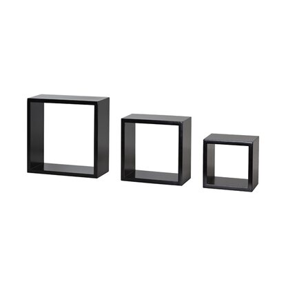 Regalset SHELF+ Frame-Set 250 mm x 250 mm x 100 mm Schwarz