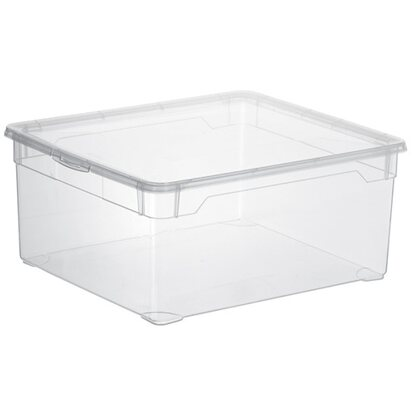 Rotho Clear Box Sweater 2er-Set Transparent 18 l je Box