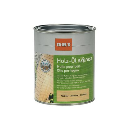 OBI Holz-Öl Express Transparent 750 ml