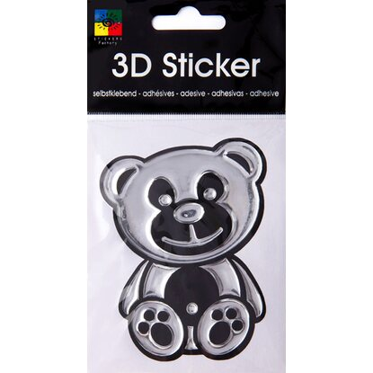 3-D Sticker Bicolor Teddy 9 cm x 9 cm